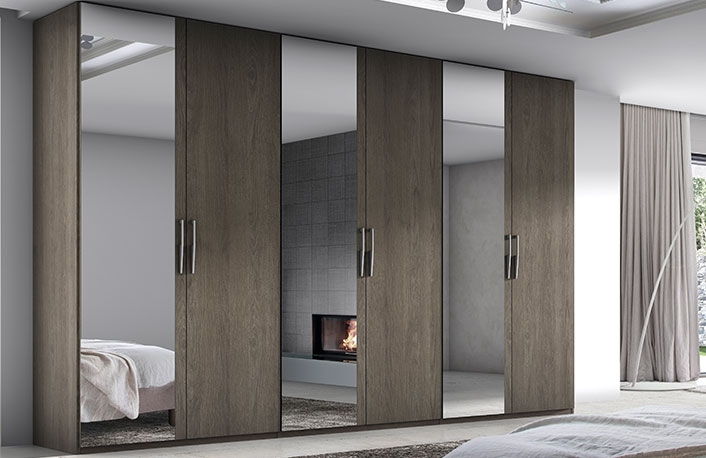 Armarios con espejos perfectos para dormitorios - Puertas de espejo ...