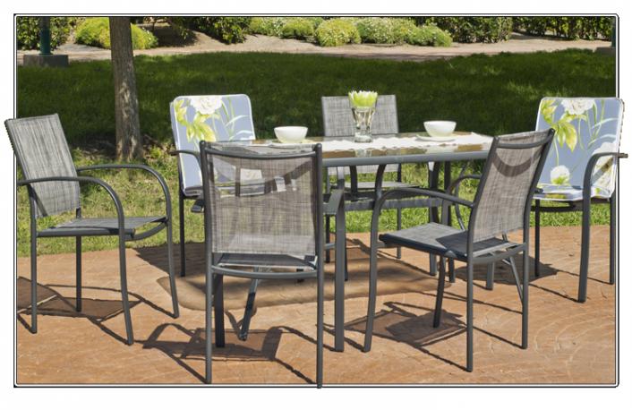 Consejos para escoger una mesa de exteriorblog de - Conjunto exterior jardin ...