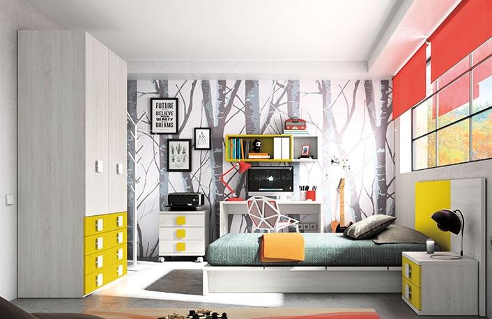 con el amarillo en cambio no existe este problema no te parece que la siguiente habitacin juvenil es ideal para una chica adolescente with color habitacion