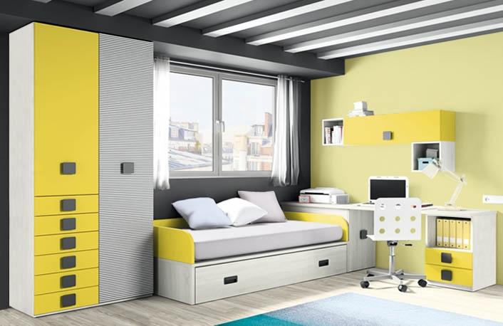 Amarillo un color ideal para habitaciones juveniles - Colores dormitorio juvenil ...