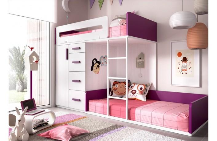 Decorar habitaciones infantiles y juveniles en morado o - Muebles boom escritorios ...