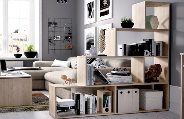 Estanter as perfectas para dividir ambientes - Estanterias para salones ...