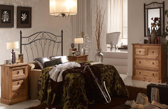 por ejemplo en dormitorios de estilo rstico son muy comunes los cabeceros de forja como el que puedes ver en la siguiente imagen