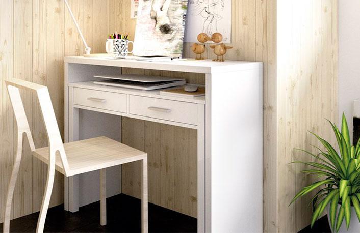 Pr cticos escritorios con espacio de almacenamiento - Escritorios para espacios reducidos ...