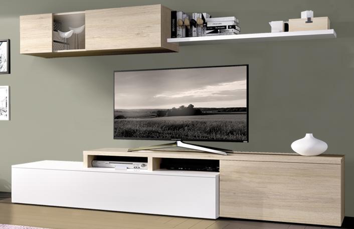 C mo iluminar el hogar para ganar espacioblog de - Muebles salon blanco y madera ...