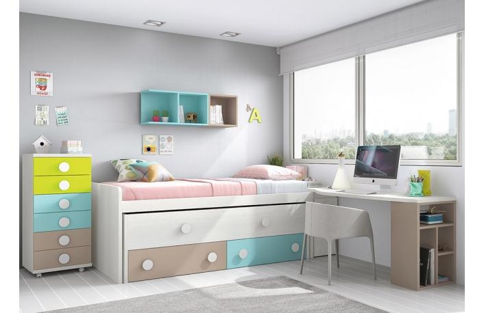 Seis camas juveniles que aprovechan el espacio - Cajoneras para dormitorios juveniles ...