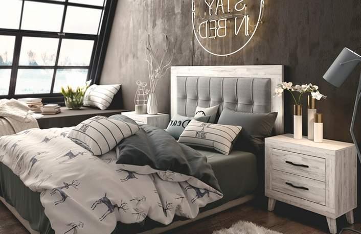 """Un dormitorio en colores oscuros: ¿por qué no"""""""